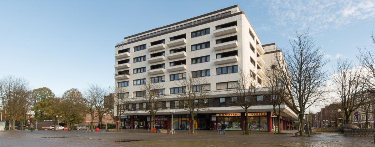 In diesem Gebäude finden Sie unsere Schwerpunktpraxis für Magen- und Darmerkrankungen, in Hamburg-Billstedt